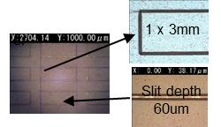 高精度外形加工例 レーザー加工機6