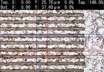 微細パターン加工例 レーザー加工機3